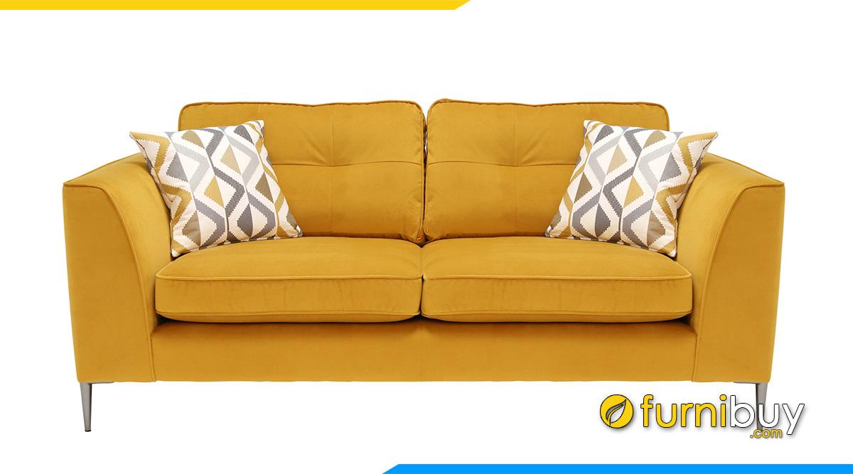 Ghế sofa nỉ đẹp màu vàng