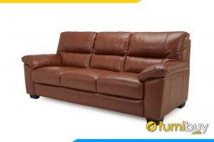 Ghế sofa văng dài 3 chỗ ngồi bọc da