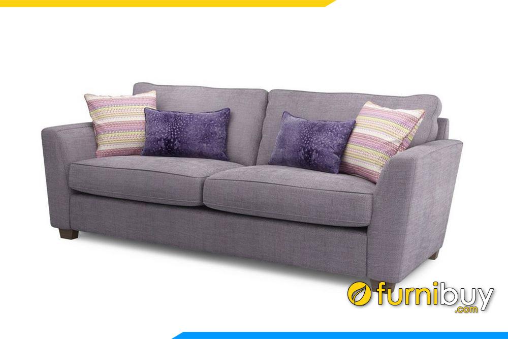 Ghế sofa nỉ F20006 được kết hợp với gối ôm trang trí bắt mắt