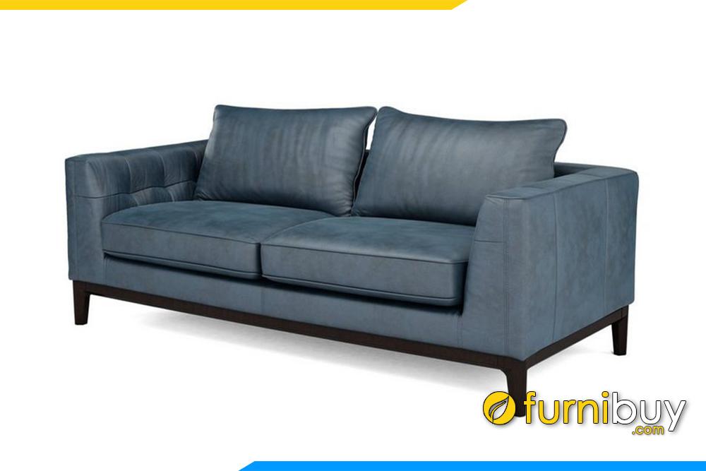 Phần chân đế bằng gỗ chạy viền khiến sofa trở lên sang trọng hơn rất nhiều