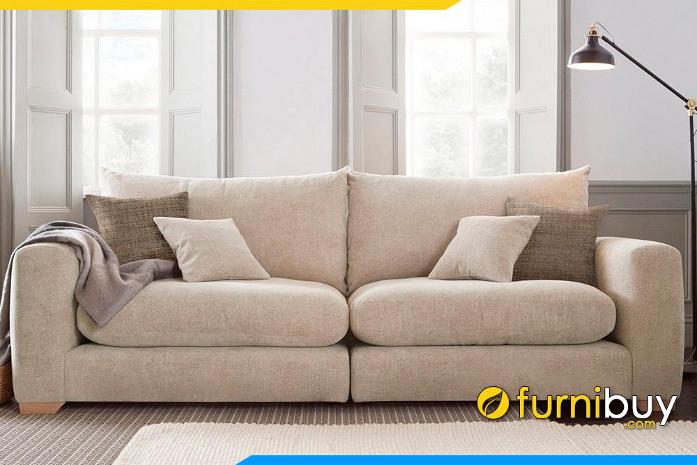 Mẫu ghế sofa đơn FB20029 được khách hàng đặt làm cải tiến thành kiểu dáng văng cho phòng khách nhà mình