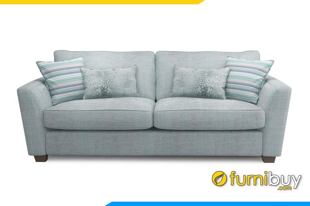Ghế sofa chất liệu nỉ mềm mại với gam màu kem xanh bắt mắt, hiện đại