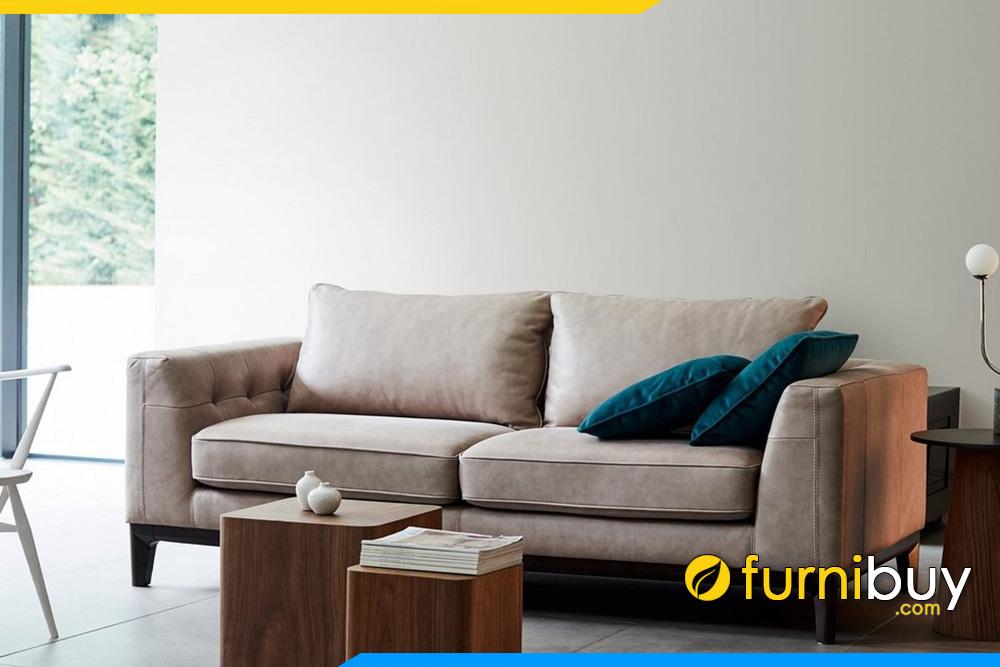 Hình ảnh mẫu sofa đơn FB20027 được thay đổi thành kiểu dáng văng dài cho phòng khách nhỏ.