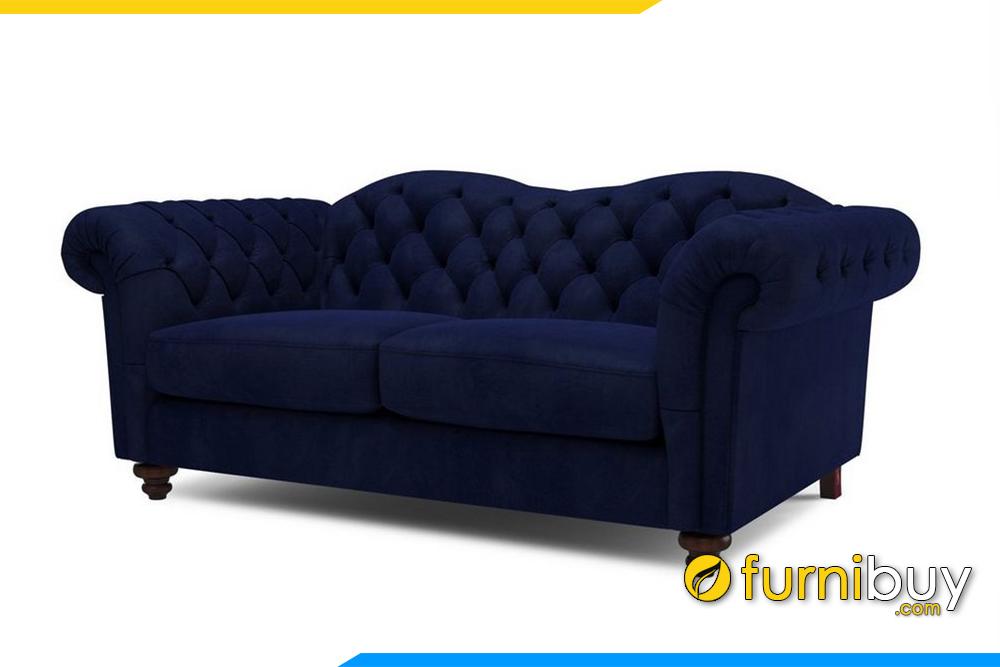 Bộ ghế sofa phòng khách với gam màu xanh than rất độc đáo