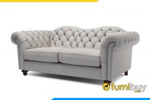 Ghế sofa với gam màu kem trắng sang trọng cho phòng khách hiện đại