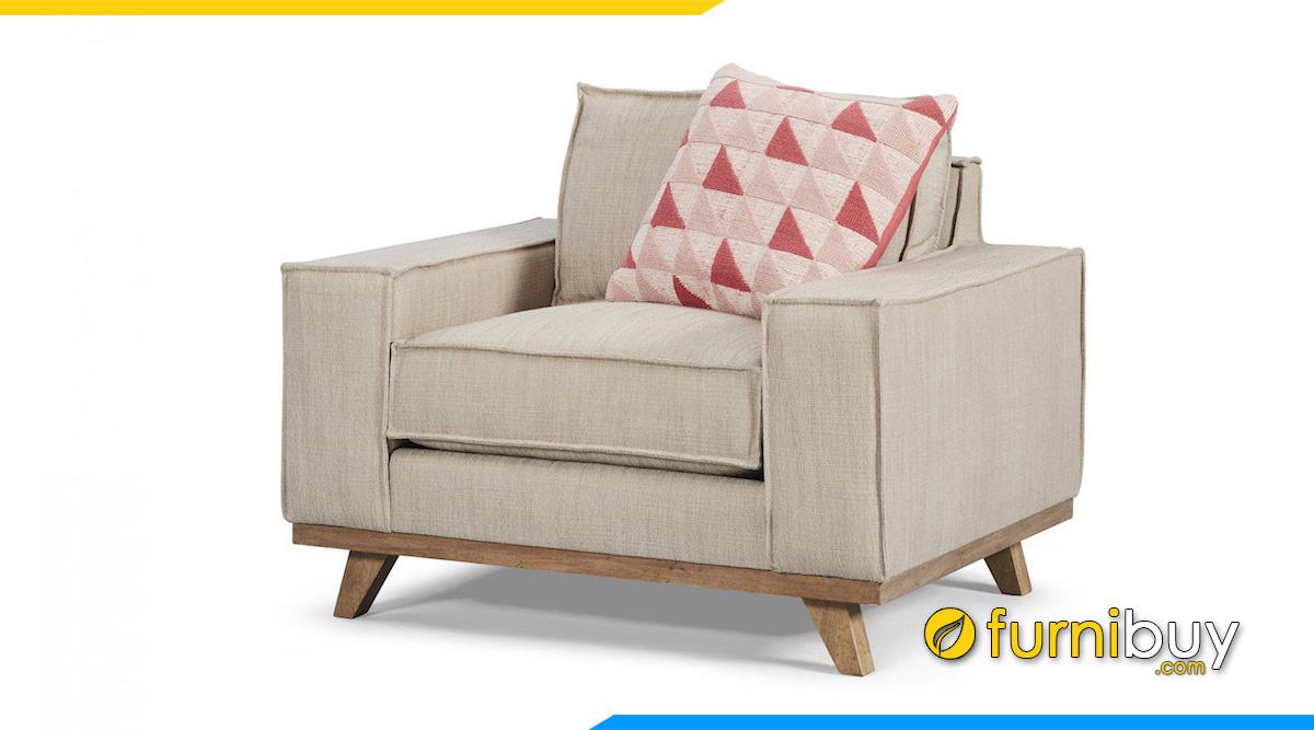 ghế sofa nỉ chân gỗ