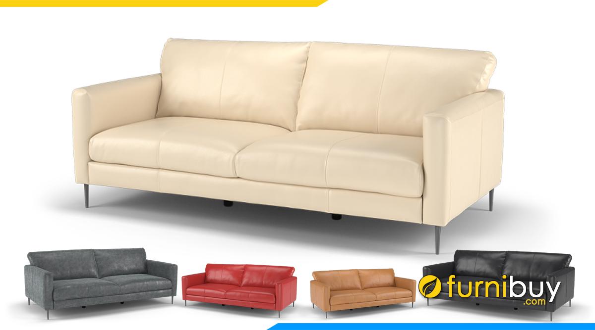 Ghế sofa văng da kiểu đơn giản