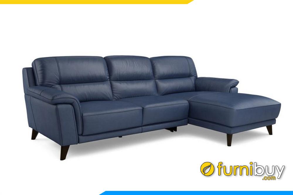 Hình ảnh bộ sofa phòng khách với màu xanh than độc đáo