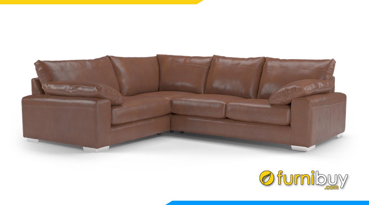 Sofa da màu nâu đất trầm ấm