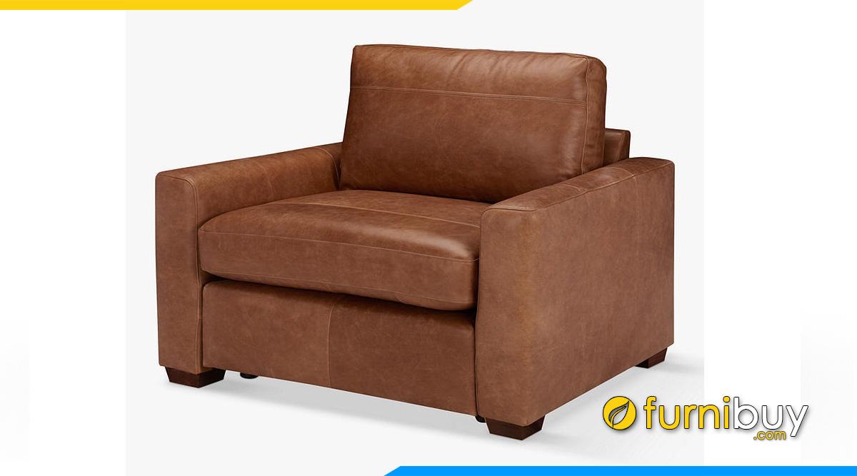 Ghế sofa đơn chất liệu da