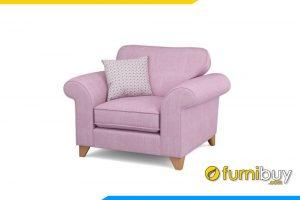 Ghế sofa với gam màu hồng ấm áp, rất được chị em phụ nữ yêu thích