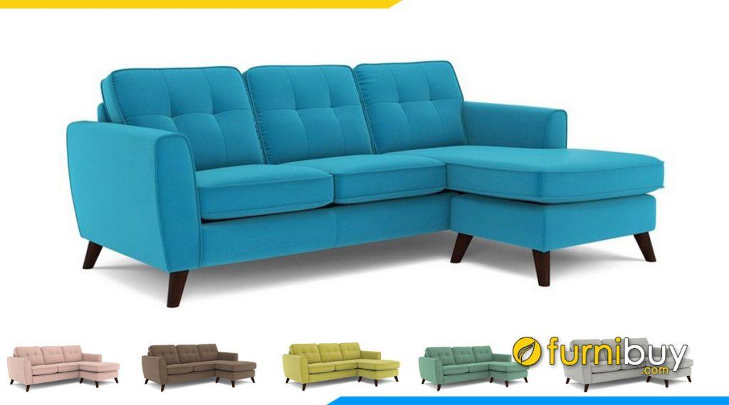 ghe sofa goc mau xanh da troi 2m