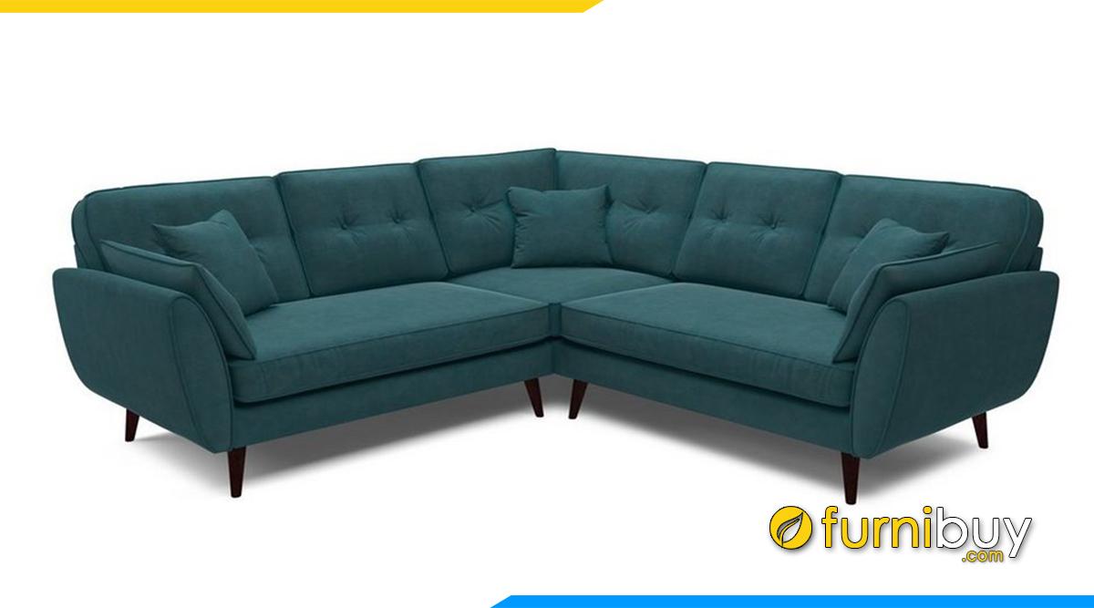 ghe sofa ni mau xanh co dien sang trong