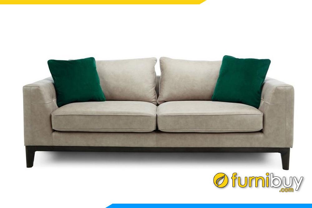 Hình ảnh mẫu ghế sofa văng da cho phòng khách FB20018