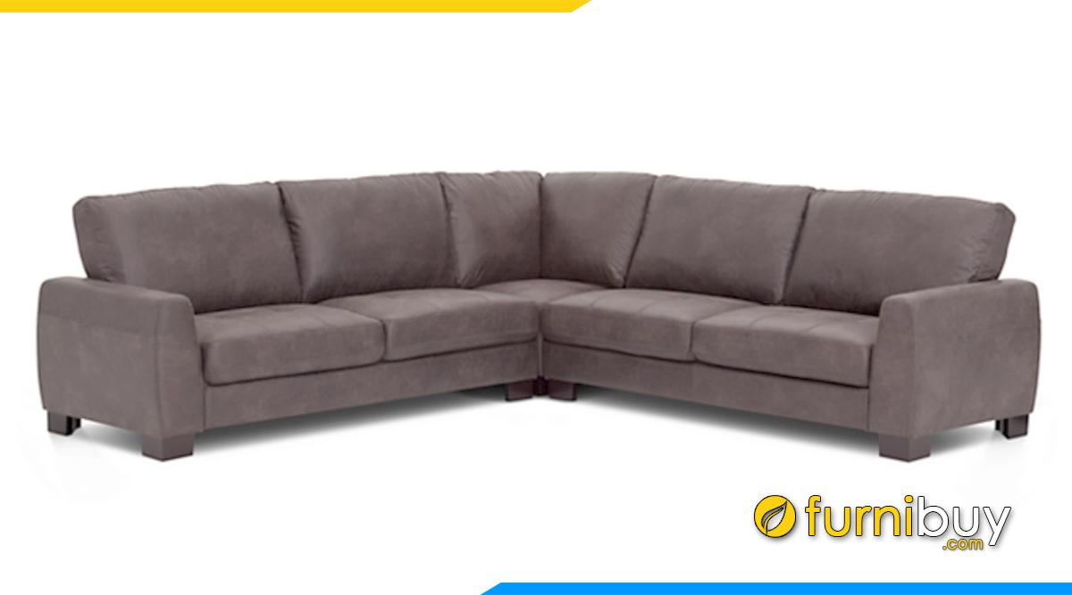 sofa da đẹp dạng góc chữ V