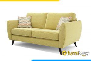 Ghế sofa văng có tựa tay thấp giúp bộ sofa trở lên rộng rãi hơn