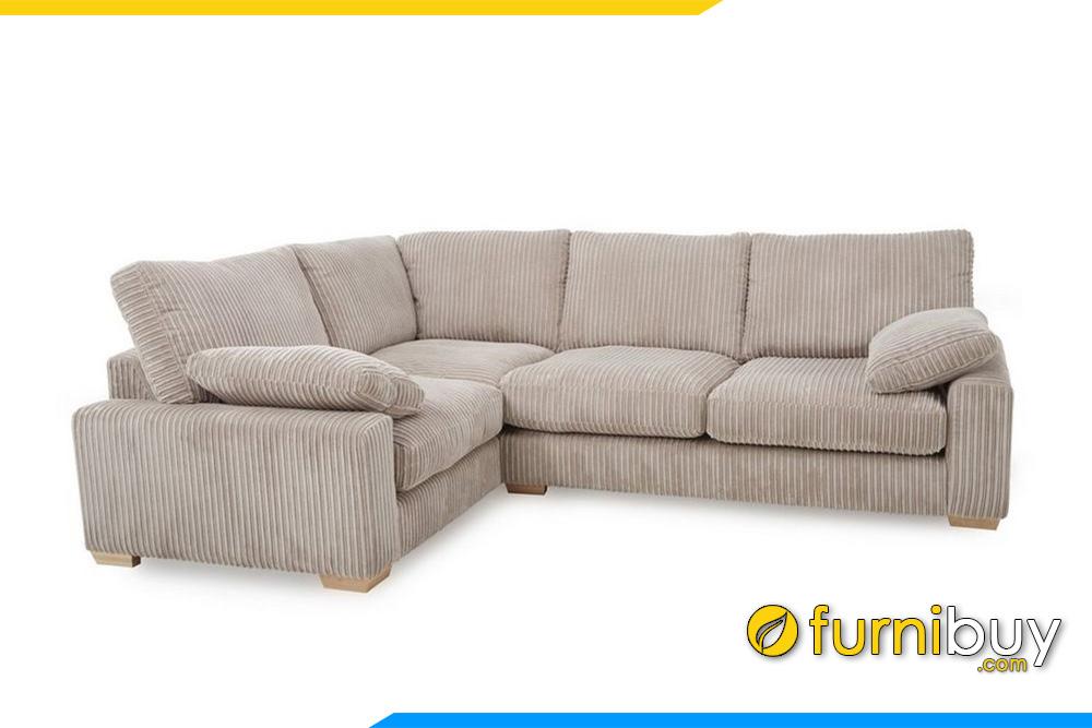 Hình ảnh ghế sofa nỉ cho phòng khách hiện đại FB20022