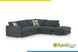 Ghế sofa phòng khách với chất liệu nỉ hiện đại rất mềm mại