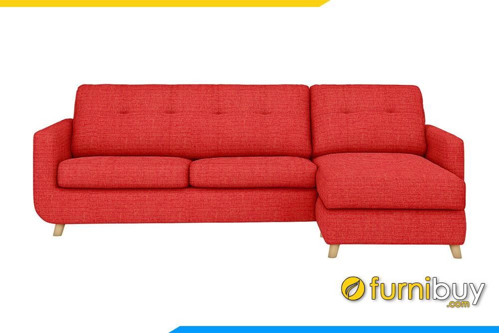 Mẫu sofa nỉ màu đỏ FB20053