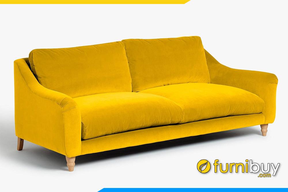 Ghế sofa nỉ màu vàng đẹp FB20057