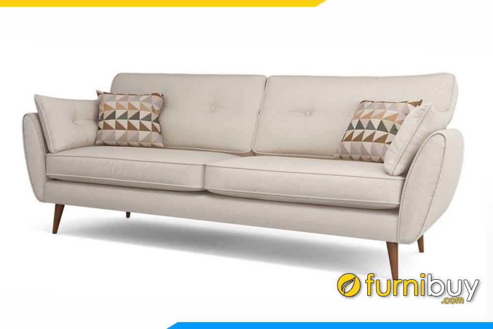 Ghế sofa văng với gam màu kem trắng sang trọng
