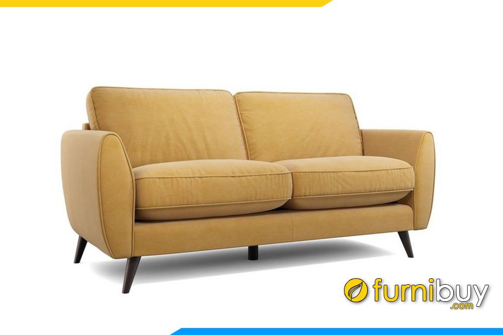 Bộ ghế sofa với gam màu vàng rất trẻ trung, phá cách nổi bật cho phòng khách