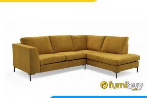 Ghế sofa nỉ F20010 được thiết kế kiểu dáng góc kết hợp chân đế cao