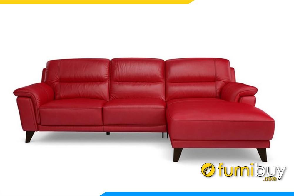 Mẫu ghế sofa với gam màu đỏ nổi bật, cá tính. Đây là một trong những màu rất được người có mệnh Hỏa ưa chuộng