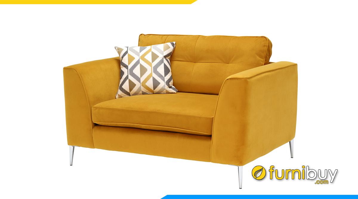 Sofa 1 chỗ màu vàng