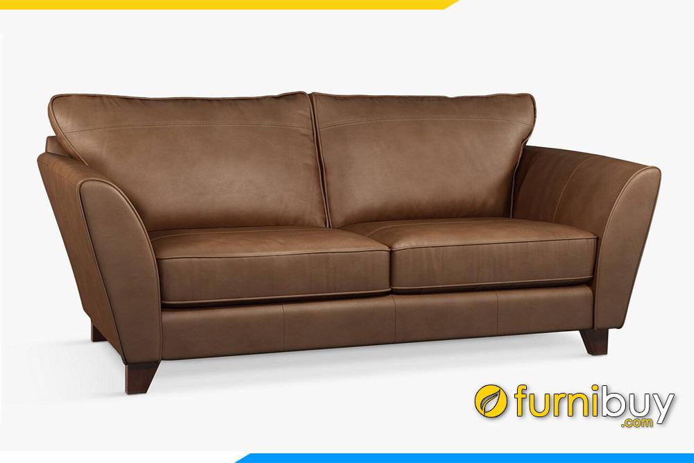 Mẫu sofa văng da hai chỗ ngồi FB20051 đã được đổi màu da