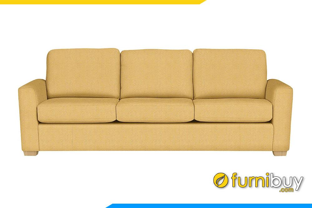 Hình ảnh mẫu sofa văng nỉ màu vàng 3 chỗ ngồi FB20056 tuyệt đẹp