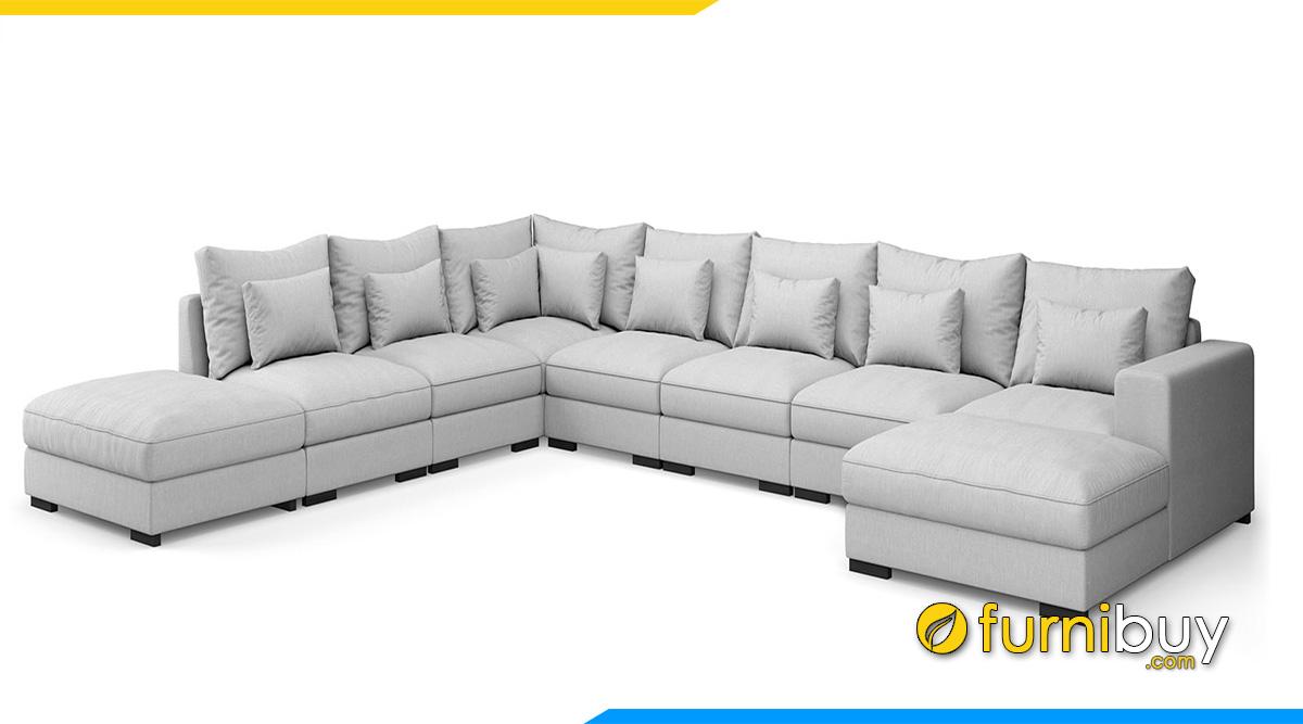 Một bộ ghế sofa lớn nhiều chỗ ngồi