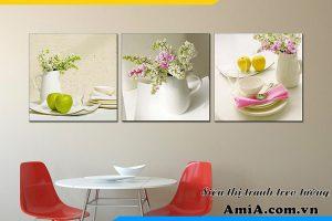 Mẫu tranh hoa quả AmiA 1088 trang trí phòng ăn hiện đại. Tạo cảm giác ngon miệng hơn cho gia đình.