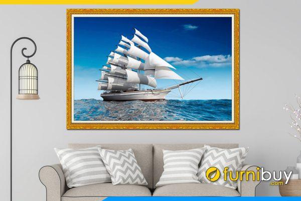 Tranh thuận buồm xuôi gió khổ lớn AmiA 330A. Tranh được sử dụng nhiều làm quà tặng tân gia, khai chương ý nghĩa.