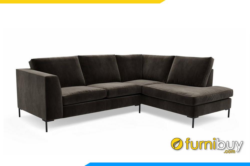 Ghế sofa góc nỉ được thiết kế nêm với gối tháo rời tiện lợi cho việc vệ sinh sofa