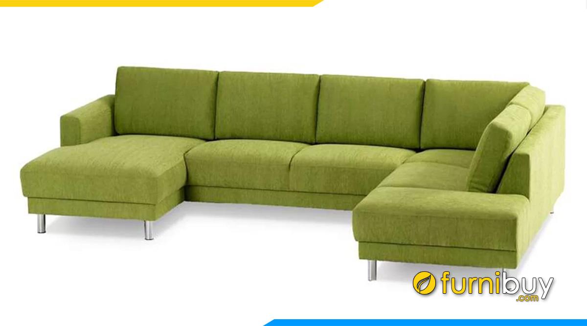 Sofa bọc nỉ màu xanh trẻ trung