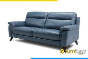 Ghế sofa da với phần nệm ngồi khá dày dặn êm ái