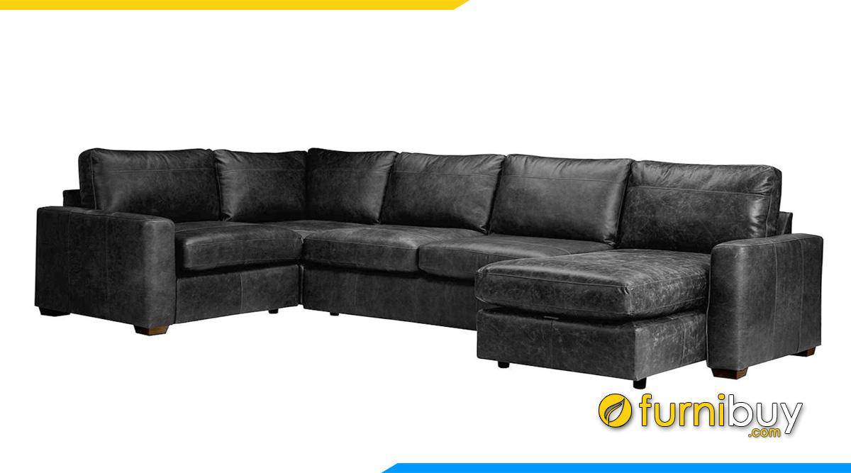 Sofa phòng khách giá rẻ chất liệu da