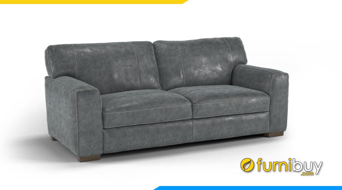 Ghế sofa da kiểu văng
