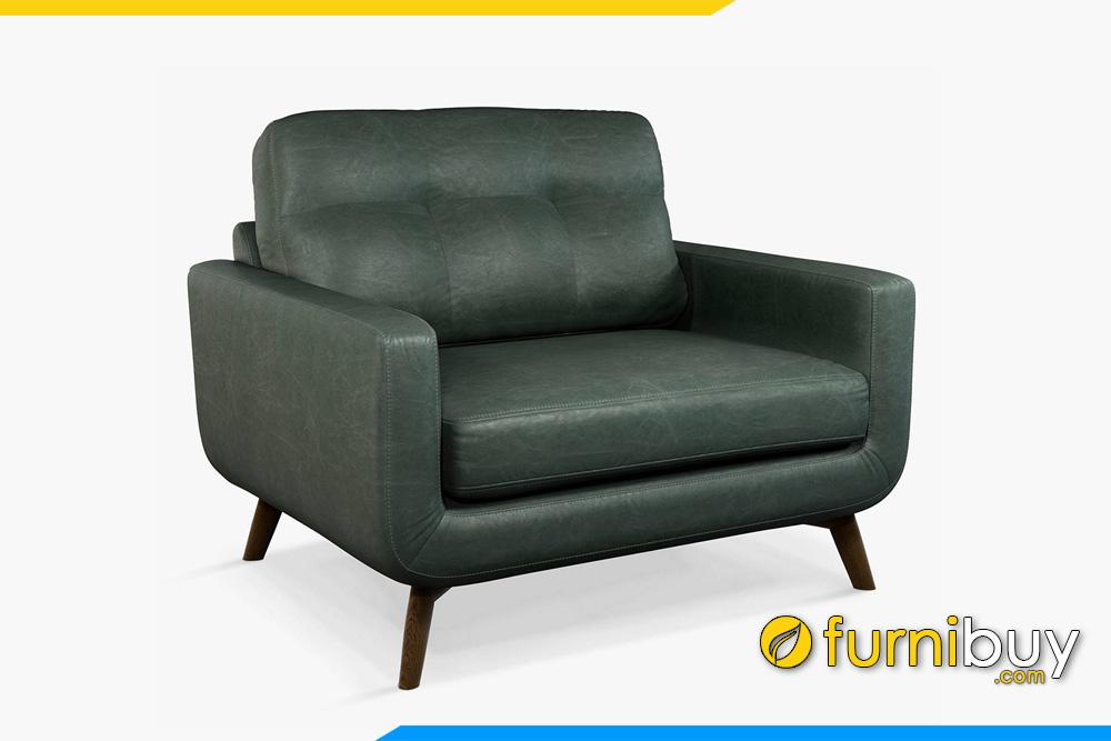 ghe sofa 1 cho ngoi boc da mau reu