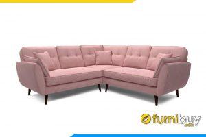 Ghế sofa góc FB20019 với gam màu hồng ấm áp rất được những bạn nữ yêu thích