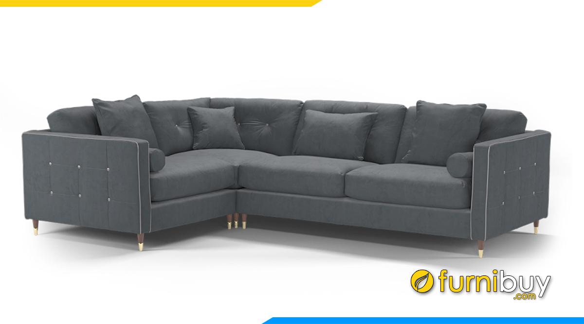 Mẫu ghế sofa nỉ đẹp, trẻ trung