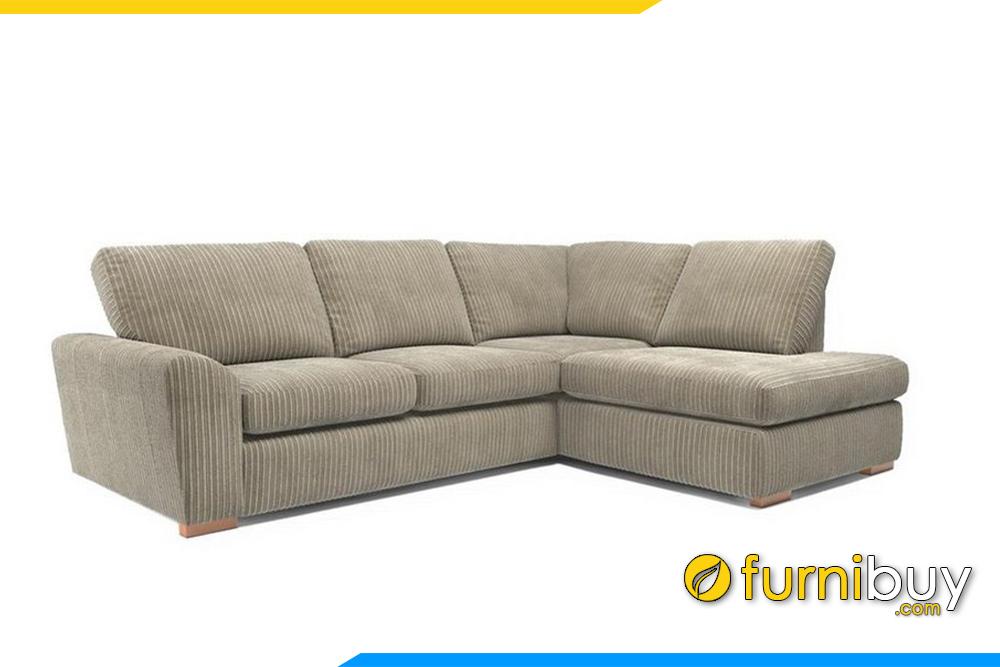 Hình ảnh mẫu ghế sofa góc nỉ sang trọng F20009