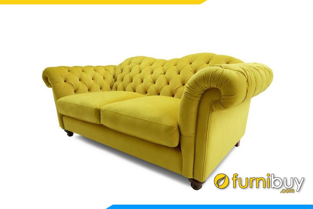 Ghế sofa tân cổ điển với thiết kế rút khuy tạo điểm nhấn độc đáo rất sang trọng