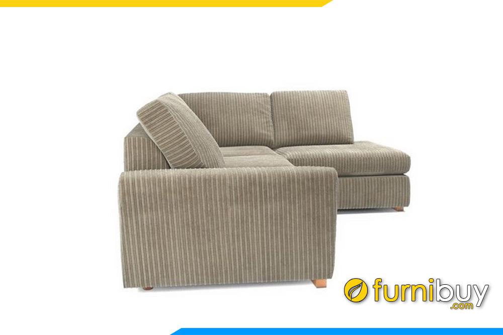 Ghế sofa được thiết kế tựa tay thấp tăng chiều rộng của ghế sofa