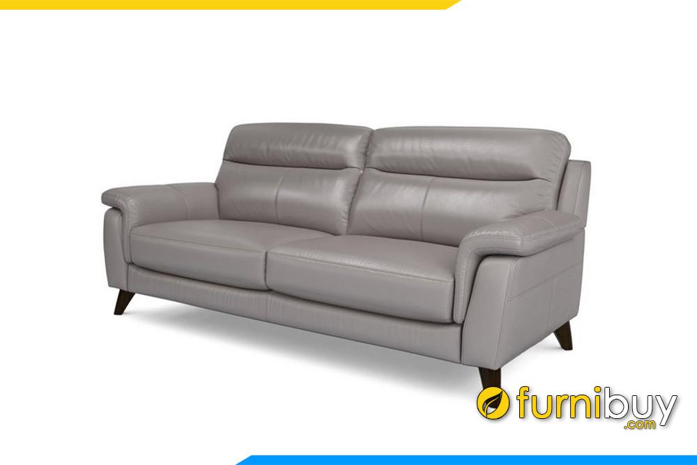 Với chất liệu da giúp cho việc vệ sinh ghế sofa được dễ dàng hơn