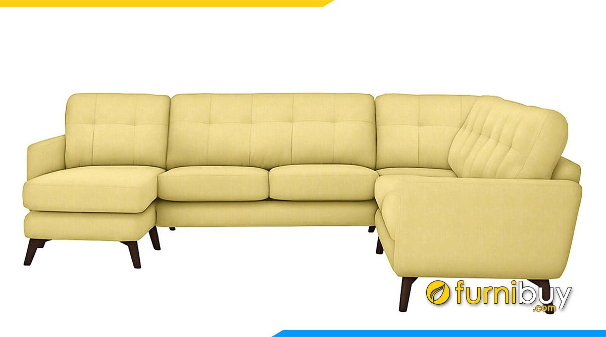 Sofa góc U đẹp bọc nỉ vải