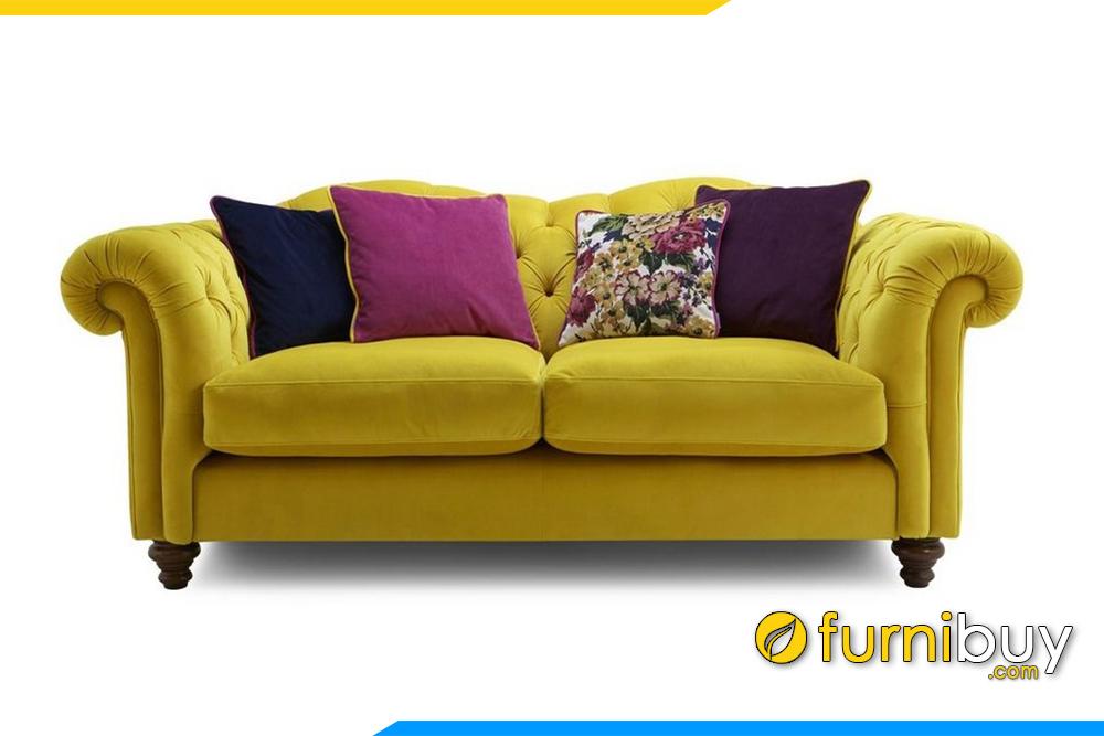 Hình ảnh ghế sofa nỉ cho phòng khách thiết kế kiểu Bắc Âu