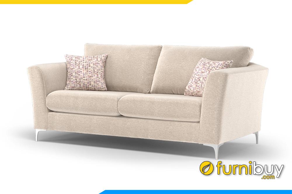 Tựa tay vát cong kết hợp với gối và nệm làm rời tiện lợi cho việc vệ sinh ghế sofa