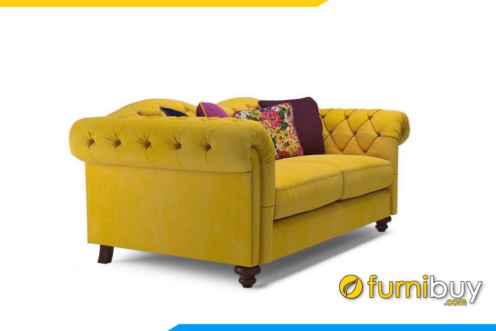 Hình ảnh chi tiết bộ ghế sofa nỉ được chụp ngang